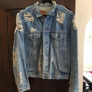 Vintage Shredded Levi's Denim Jacket